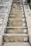 Las escaleras concretas con números de serie Imagen de archivo