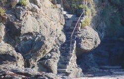 Las escaleras de la playa imagen de archivo