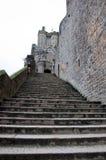 Las escaleras del soporte de San Miguel Normandía, Francia Imagenes de archivo