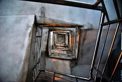 Las escaleras espirales Imágenes de archivo libres de regalías