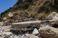 Las escaleras a la playa Imagen de archivo libre de regalías