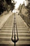 Las escaleras Montmartre Imagen de archivo libre de regalías