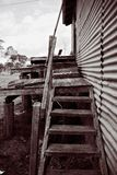 Las escaleras raquíticas Foto de archivo