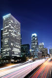 Las escenas céntricas de la noche del LA con la luz de la cola se arrastran Fotografía de archivo libre de regalías