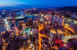 Las escenas de la noche de Chongqing Fotografía de archivo libre de regalías