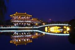 Noche de la arquitectura de China Fotografía de archivo libre de regalías