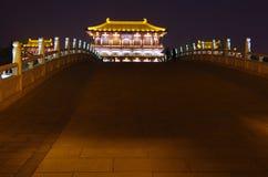 Noche de la arquitectura de China Imágenes de archivo libres de regalías