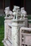 Las esculturas de animales míticos en Beiling parquean, Shenyang, China Imagenes de archivo