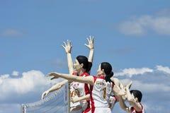 Las esculturas de atletas chinos en Yuyuantan parquean, Pekín, China Foto de archivo libre de regalías