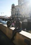 Las esculturas de Berlín en haces del sol Imagen de archivo