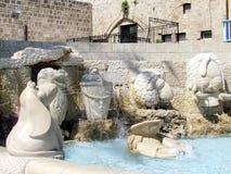 Las esculturas de Jaffa del zodiaco firman 2012 Foto de archivo
