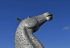 Las esculturas del caballo en Escocia llamaron los Kelpies imagen de archivo