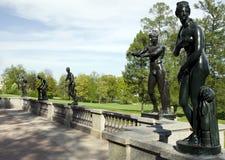 Las esculturas en parque Imagen de archivo libre de regalías