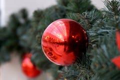 Las esferas del ` s del Año Nuevo en abeto ramifican Imagen de archivo