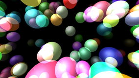 Las esferas transparentes que volaban generaron el vídeo 3D stock de ilustración