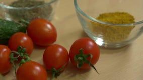 Las especias y las verduras metrajes