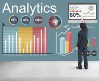 Las estadísticas de los datos del Analytics analizan concepto de la tecnología fotos de archivo libres de regalías