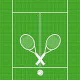 Las estafas de tenis del fondo con la bola firman el vect del símbolo del deporte del icono Fotos de archivo