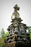 Las estatuas de dios en el templo en Bali Foto de archivo libre de regalías