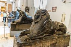Las estatuas de las esfinges fotos de archivo libres de regalías
