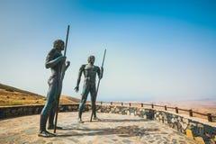 Las estatuas en Mirador Corrales de Guize fotos de archivo libres de regalías