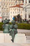 Las estatuas llamaron a Le Sartine, Trieste Imágenes de archivo libres de regalías