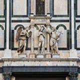 Las estatuas sobre la puerta del paraíso, baptisterio de San Giovan Imágenes de archivo libres de regalías