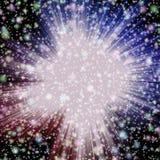 Las estrellas asaltan en universo con las nubes púrpuras y rojas y muchas estrellas en universo, estrellas coloridas ilustración del vector