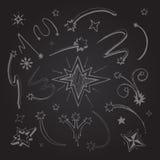 Las estrellas dan exhausto Imagen de archivo libre de regalías