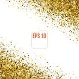 las estrellas de oro 3d están cayendo abajo Vector Imagenes de archivo