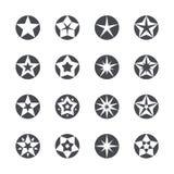 Las estrellas del vector fijaron iconos Fotografía de archivo libre de regalías