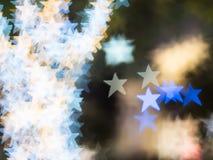 Las estrellas están flotando todo alrededor del área por usado de bokeh Imagen de archivo
