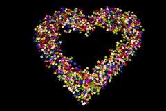 Las estrellas formaron en un corazón Imágenes de archivo libres de regalías