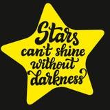 Las estrellas pueden brillo del ` t sin oscuridad ilustración del vector