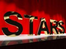 Las estrellas redactan en etapa Imagen de archivo libre de regalías