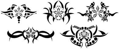 Las estrellas tatúan en negro Imagen de archivo libre de regalías