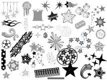 Las estrellas Vectors diseños Fotografía de archivo