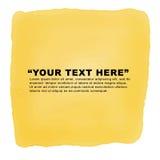 Las etiquetas amarillas de la acuarela diseñan los elementos, vector de la acuarela Foto de archivo libre de regalías