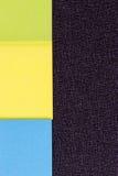 Las etiquetas engomadas coloridas Imagen de archivo libre de regalías