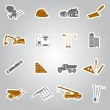 Las etiquetas engomadas de la construcción fijaron eps10 Fotos de archivo libres de regalías
