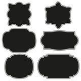 Las etiquetas y las insignias del negro del diseño del vintage para la promoción del negocio vector el ejemplo Fotografía de archivo libre de regalías