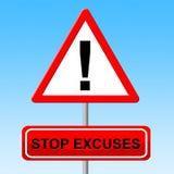 Las excusas de la parada indican circunstancias atenuantes y la precaución Imagen de archivo libre de regalías