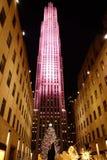 Las exhibiciones 2014 de la Navidad en el centro 35 de Fifth Avenue y de Rockefeller Imagen de archivo libre de regalías