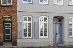 Las fachadas de las casas Imagen de archivo libre de regalías