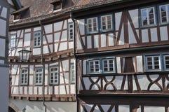 Las fachadas del zarzo, malo wimpfen Foto de archivo