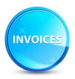 Las facturas salpican el botón redondo azul natural ilustración del vector