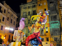 Las Fallas,巴伦西亚,西班牙 免版税库存照片