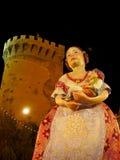 Las Fallas,巴伦西亚,西班牙 库存照片