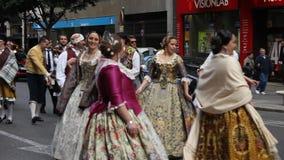 Las Fallas à Valence banque de vidéos