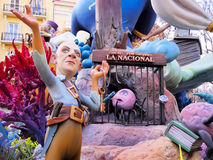 Las Fallas, Valence, Espagne Images stock